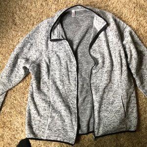 Plus size zip up sweatshirt